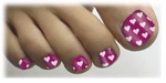 Toenail Art Veneers Floating Hearts #1 design