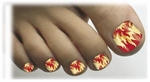 Toenail Art Veneers Hot Stuff design