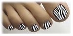 Toenail Art Veneers Zebra design