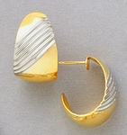 Two Tone Gold and Silver Earrings