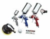 "ATD Tools 6900COMBO 10 pc. HVLP Spray Gun Set with 6"" Random Orbital Palm Sander"