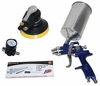 "ATD Tools 6905 1.8mm HVLP Spray Paint Gun & 6"" Random Orbital Palm Sander"