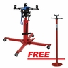 ATD Tools 7432PRO 1/2 Ton Economy Telescopic Transmission Jack with FREE 3/4-Ton Underhoist Stand