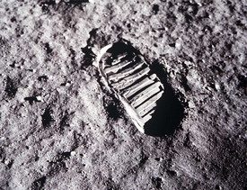 Apollo 11 Lunar Footprint