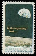 Apollo 8 Moonrise Stamp
