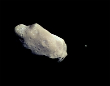 Asteroid and Moon