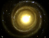 Backwards Spiral Galaxy