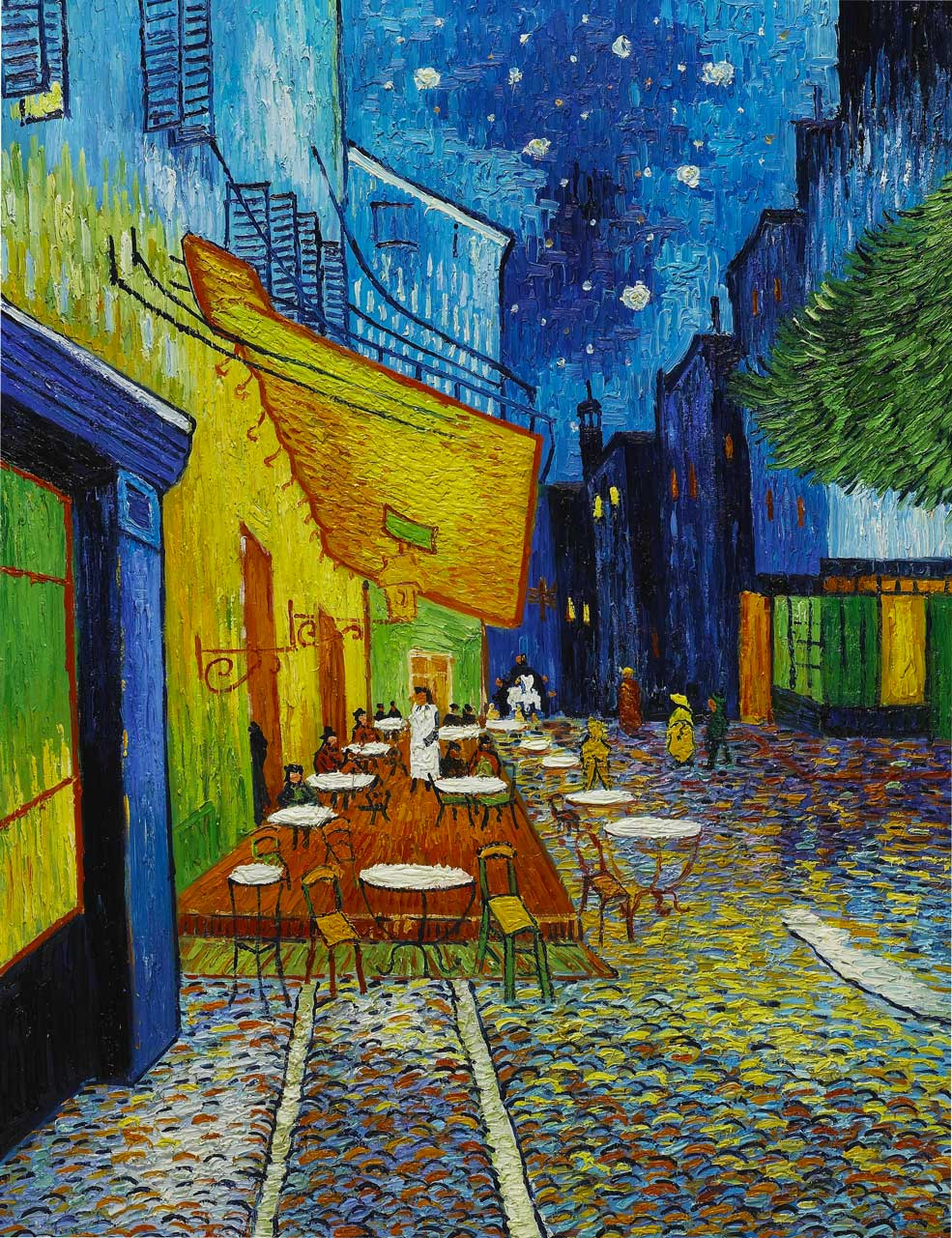 Cafe Terrace At Night Vincent Van Gogh Sky Image Lab