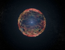 Hidden Star in Supernova