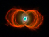 Hubble Hourglass Nebula