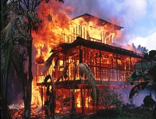 Kalapana Burning House