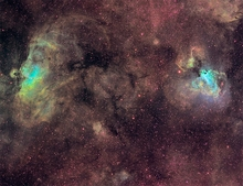 M16 M17 Eagle and Swan Nebula