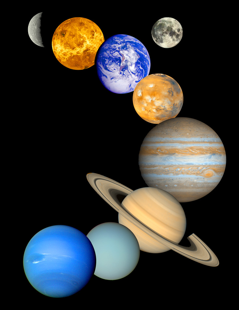 Solar System Poster   Planet Montage   All Planets   Sky ...