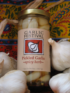 Spicy Herb Pickled Garlic 8 oz.