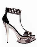 "5"" Metallic Heel with Stud Details * 527-TYARA"