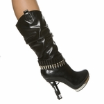 "5"" Platform Calf High Boot * HHC-HANDGUN-11-BK10"