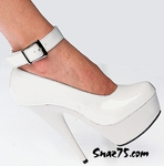 "6"" Heel Platform Closed Toe Ankle Strap Pump * 110"