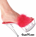 "6"" Heel Platform Slip-On With Marabou * Marilyn"
