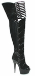 "6"" Peep Toe Thigh High * 609-KATRINA"
