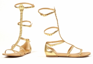 Flat Gold Braid Rope Sandal * ELC-015-CAIRO-GO10