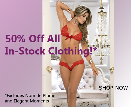 50% Off In-Stock Clothing