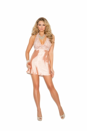 Lace and Charmeuse Babydoll * 4312