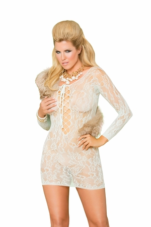 Lace Mini Dress * 88055Q