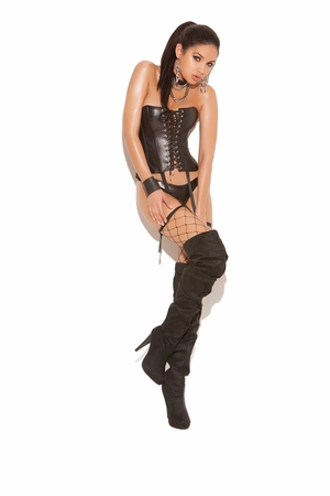 Leather Strapless Corset * L3521