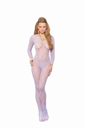 Long Sleeve Lace Bodystocking * 81294