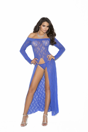 Long Sleeve Lace Gown * 1519