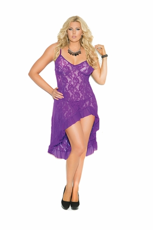 Stretch Lace Gown * 1478X