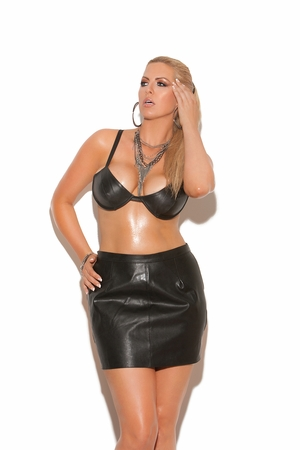 Underwire Leather Bra * L5108X