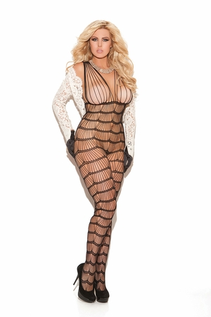 Vertical Striped Bodystocking * 8665Q
