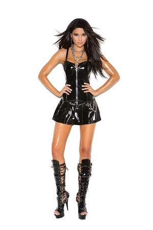 Vinyl Corset Mini Dress * V8156