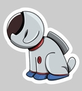 'Astronaut Dog' Auto Decal 2.5""