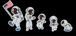 'Astronaut Family' Auto Decals
