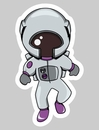 'Astronaut Girl Auto Decal 3""