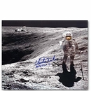 Autographed 16 x 20 Photo - Charlie Duke Crater