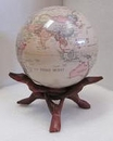Natural wood base 'Cobra' for 4.5 inch MOVA Globe