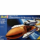 Revell 1/144th scale model of Space Shuttle Discovery with Boosters
