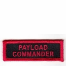 Space Shuttle Program Astronaut Payload Commander Patch