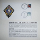 STS-135 Launch/Landing Postmarked Envelope (Cover)
