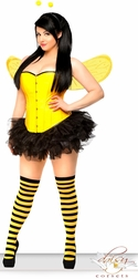 5 PC Pin-Up Sexy Bumblebee Costume