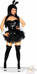 5 PC Sexy Sequin Bunny Costume