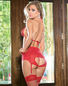 After Party Red Lace Bra & Gartini Set