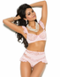 Baby Pink Pretty Lace Bra & High Waist Panty Set