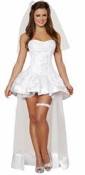 Beautiful Bride Sexy 4 PC Costume