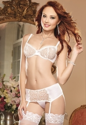 Beautiful Bride Sexy Bra Set