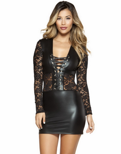 Black Lace Little Black Dress