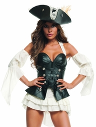 Black Pearl Pirate Sexy 3 PC Costume